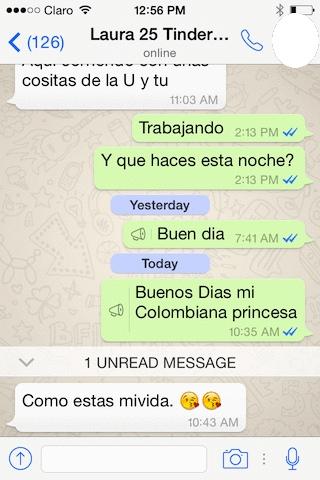 Colombiana Princesa whatsapp colombian cupid
