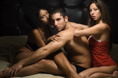 Guy in Threesome Sexual Energy