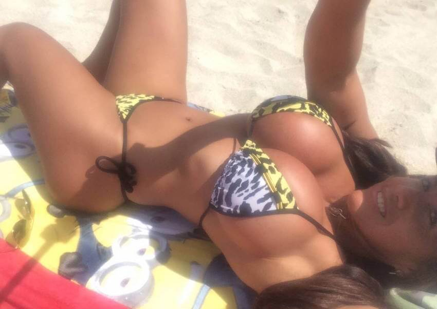 dominican girl on beach