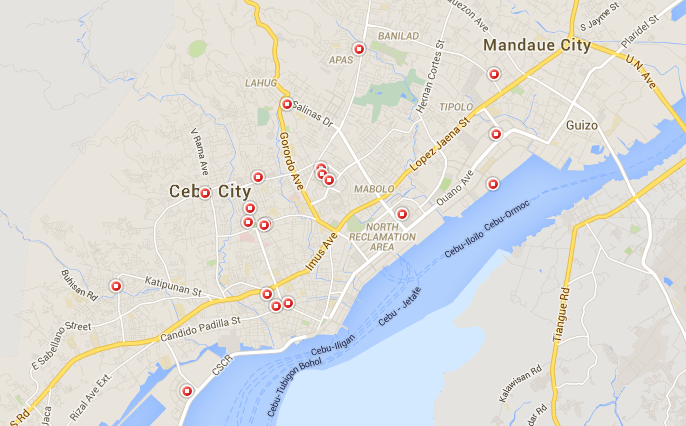 map of malls in cebu