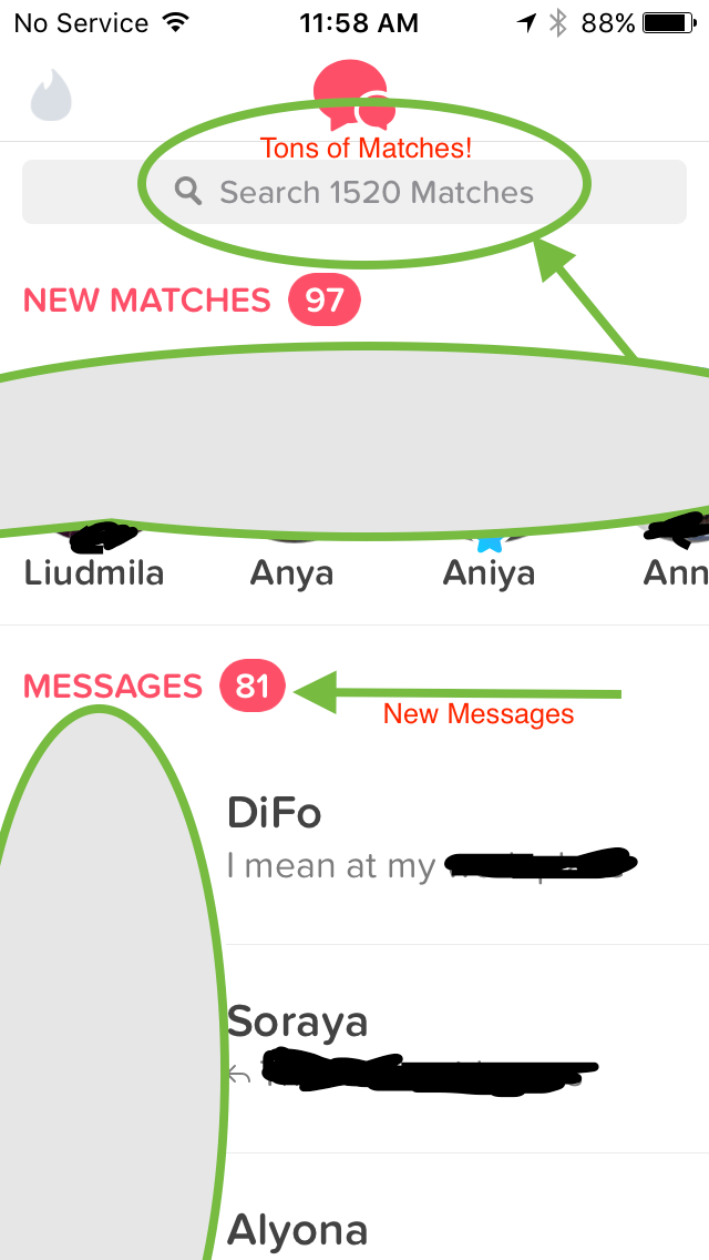 tinder dating service matches