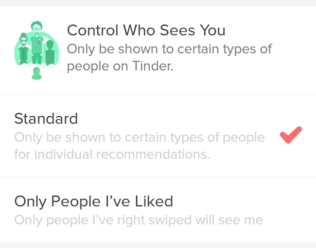 Control Who Sees You on Tinder