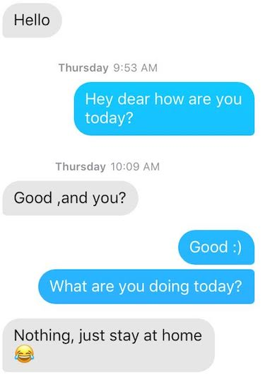 how to respond to hey from a girl on tinder