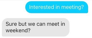 being straightforward on tinder